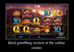 Ideal gambling session at an online casino
