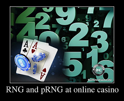RNG and pRNG at online casino