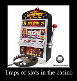 Traps of slots in an online casino