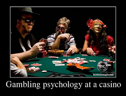 Gambling psychology at a casino