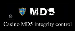 Casino MD5 integrity control