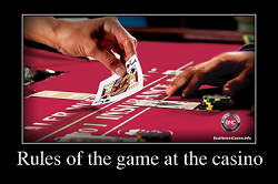 Rules of table game at the casino
