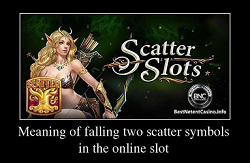Meaning of falling two scatter symbols in the online slot