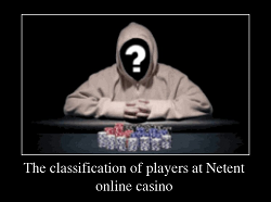 The classification of players at Netent online casino